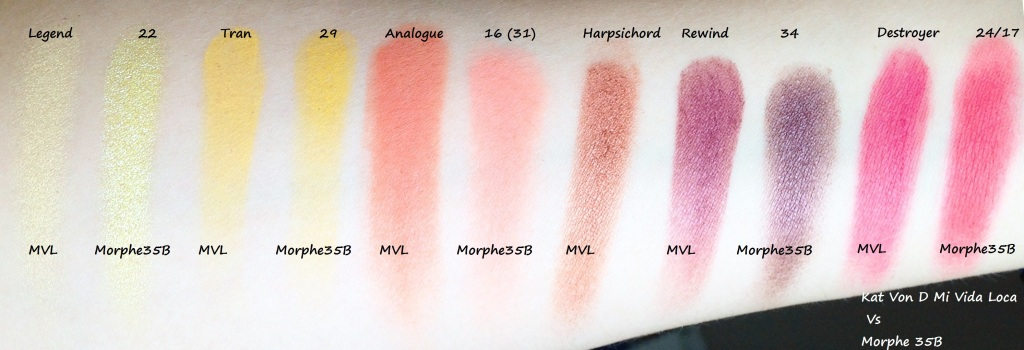 Mi Vida Lova Vs Morphe 35B swatches (1)