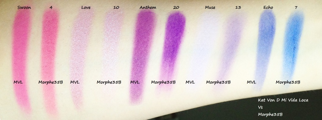 Mi Vida Lova Vs Morphe 35B swatches (2)