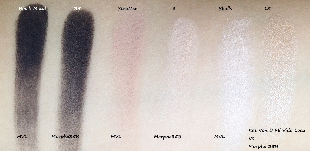 Mi Vida Lova Vs Morphe 35B swatches (4)